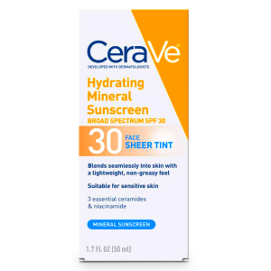 Cerave hydrating mineral sunscreen yourself on update 1 2
